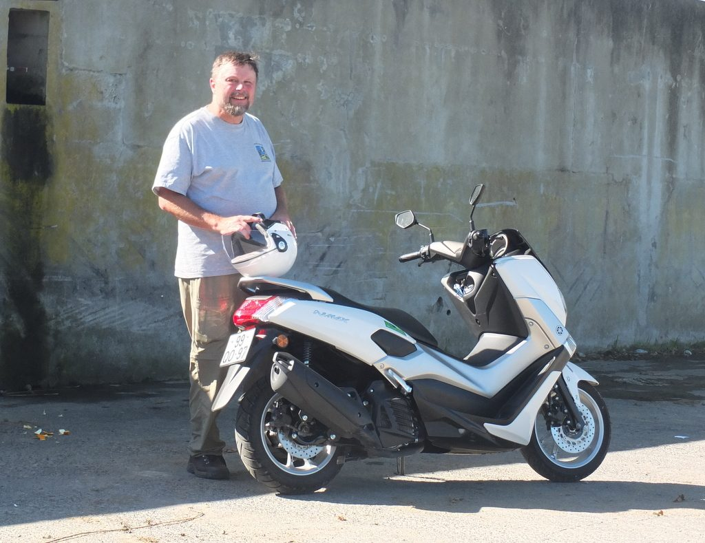 Azores Impressions - author and scooter