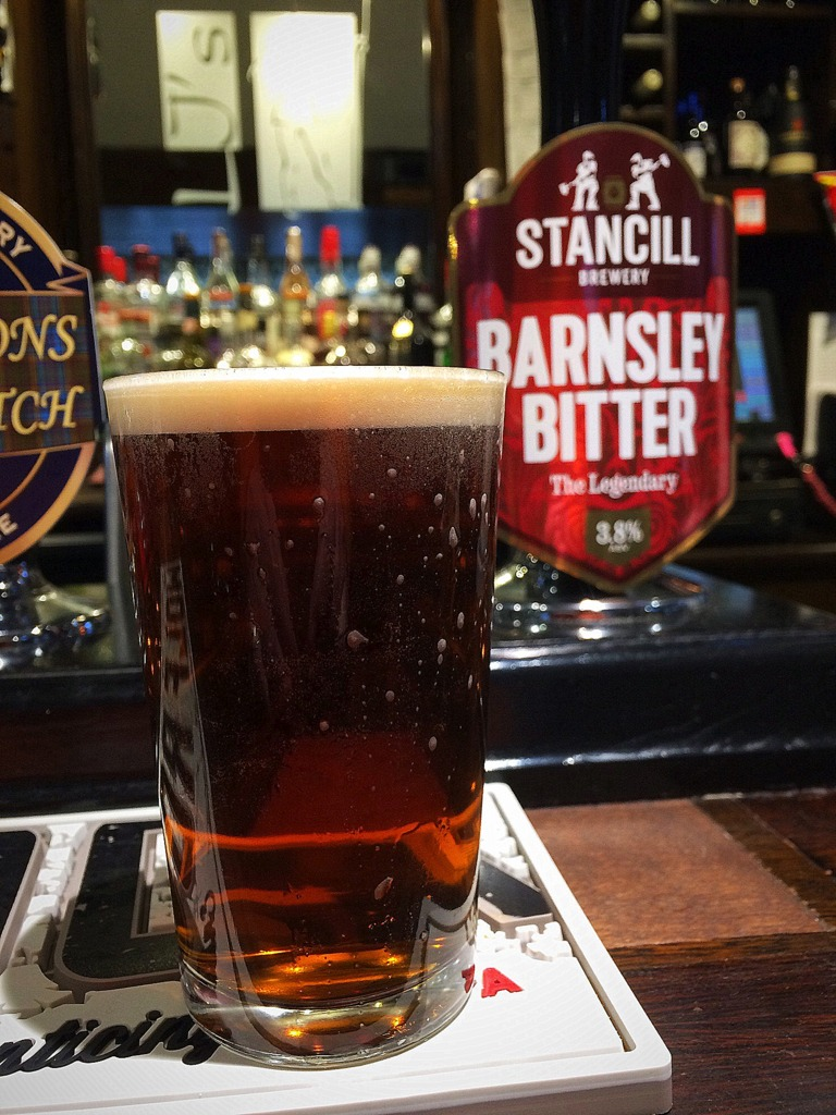 Stancill Barnsley Bitter at Shakespeares Pub