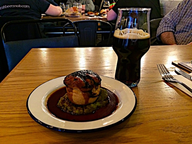 Sentinel Brewhouse - Stout and Pie pairing