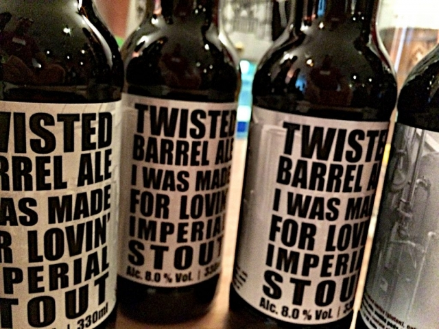 Live beer blogging - Twisted Barrel Imperial Stout