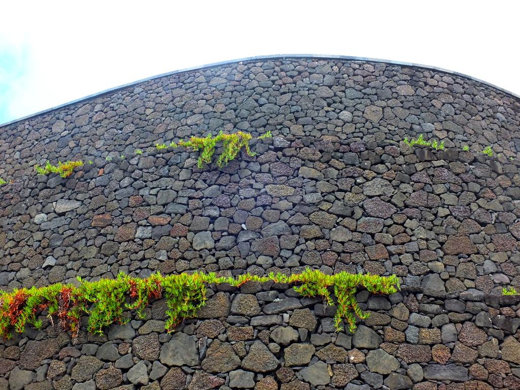 High stone wall
