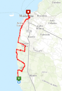 Velhas Day Hike Route